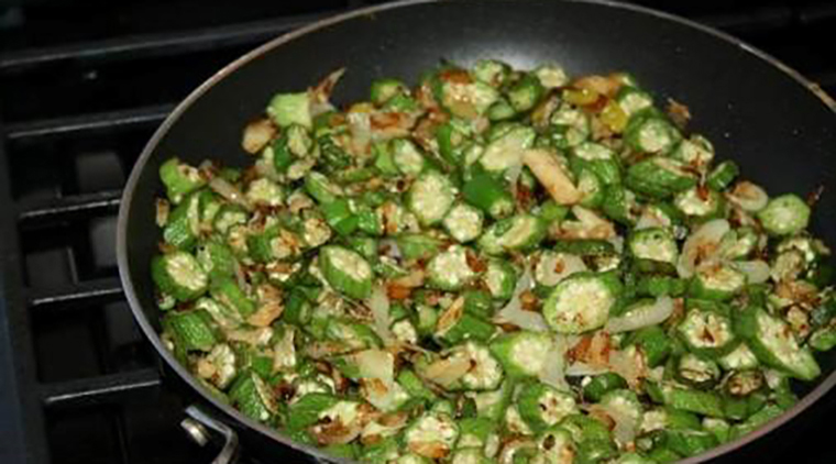 Okra and Saltfish image