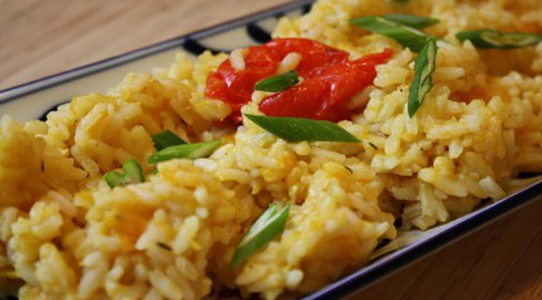 Salt Fish Pumpkin Seasoned Rice image